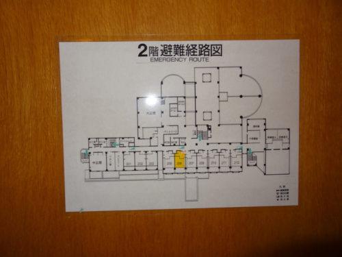 避難経路図 看板