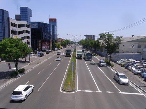 車線数が多い道路